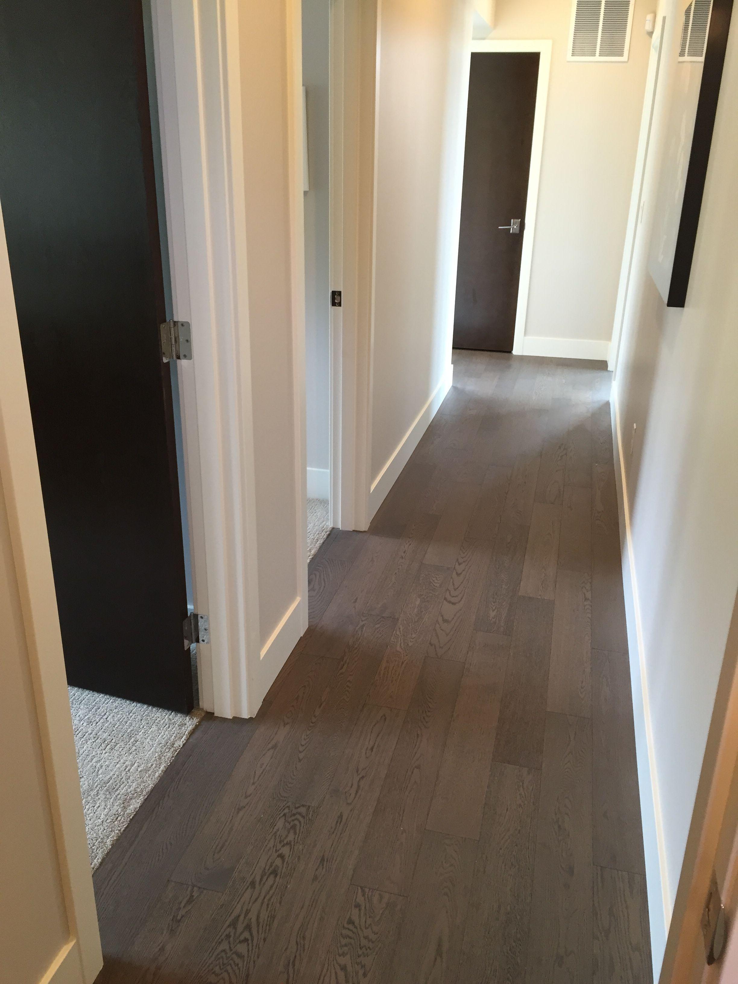 Upper Hall Flooring Similar To Basement Hall Wood Flooring In