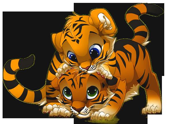 Cute Little Tigers PNG Cartoon Clipart | Desenhos de ...