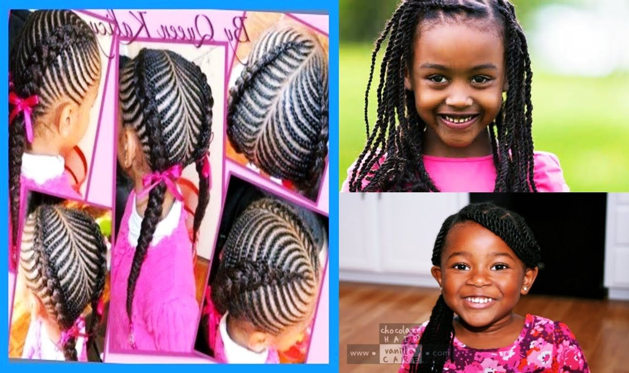 African Cute Little Girls Hairstyle For Natural Hair Youtube Cute Hairstyles Little Girl Hairstyles Girl Short Hair