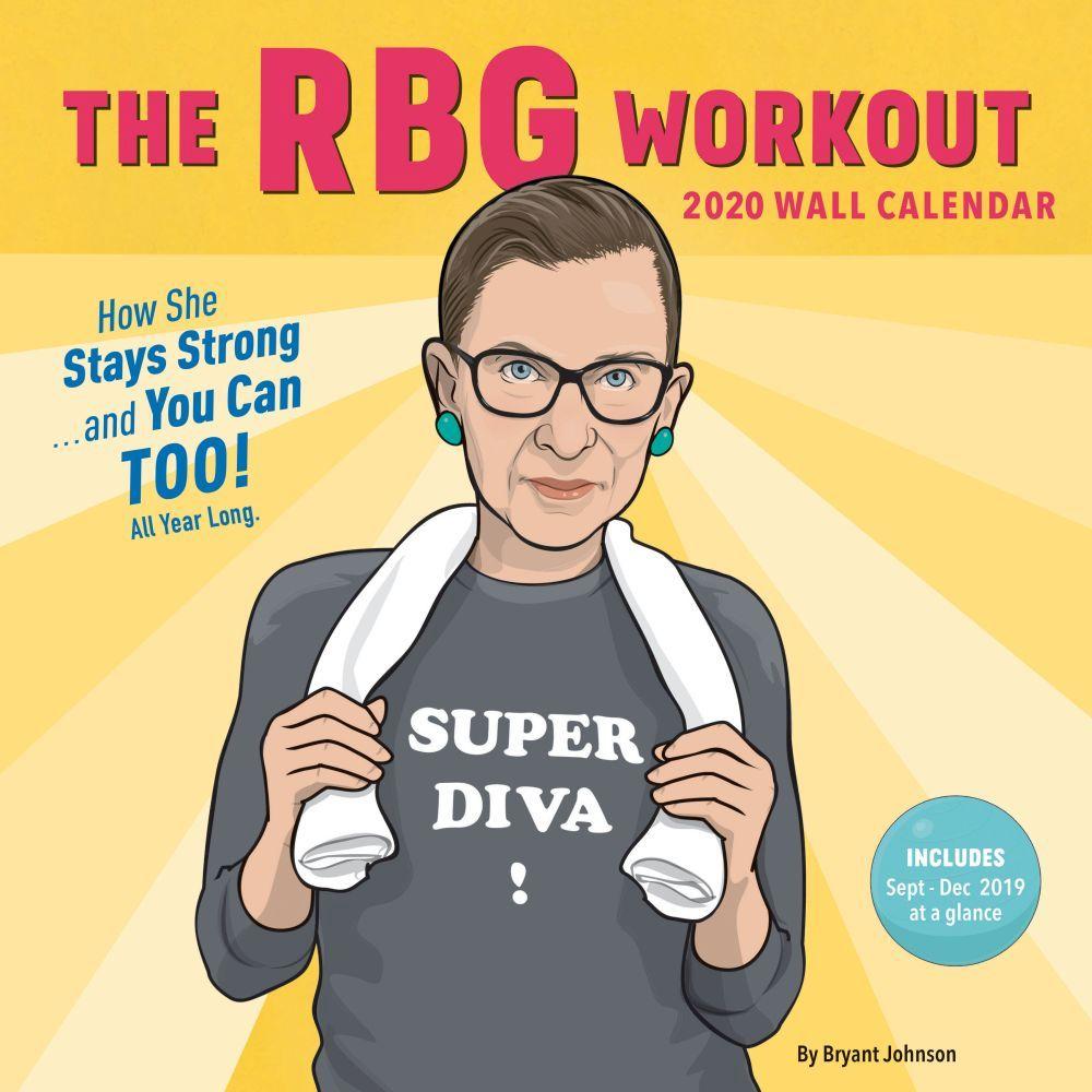 RBG Workout 2020 Wall Calendar Wall calendar, Workout