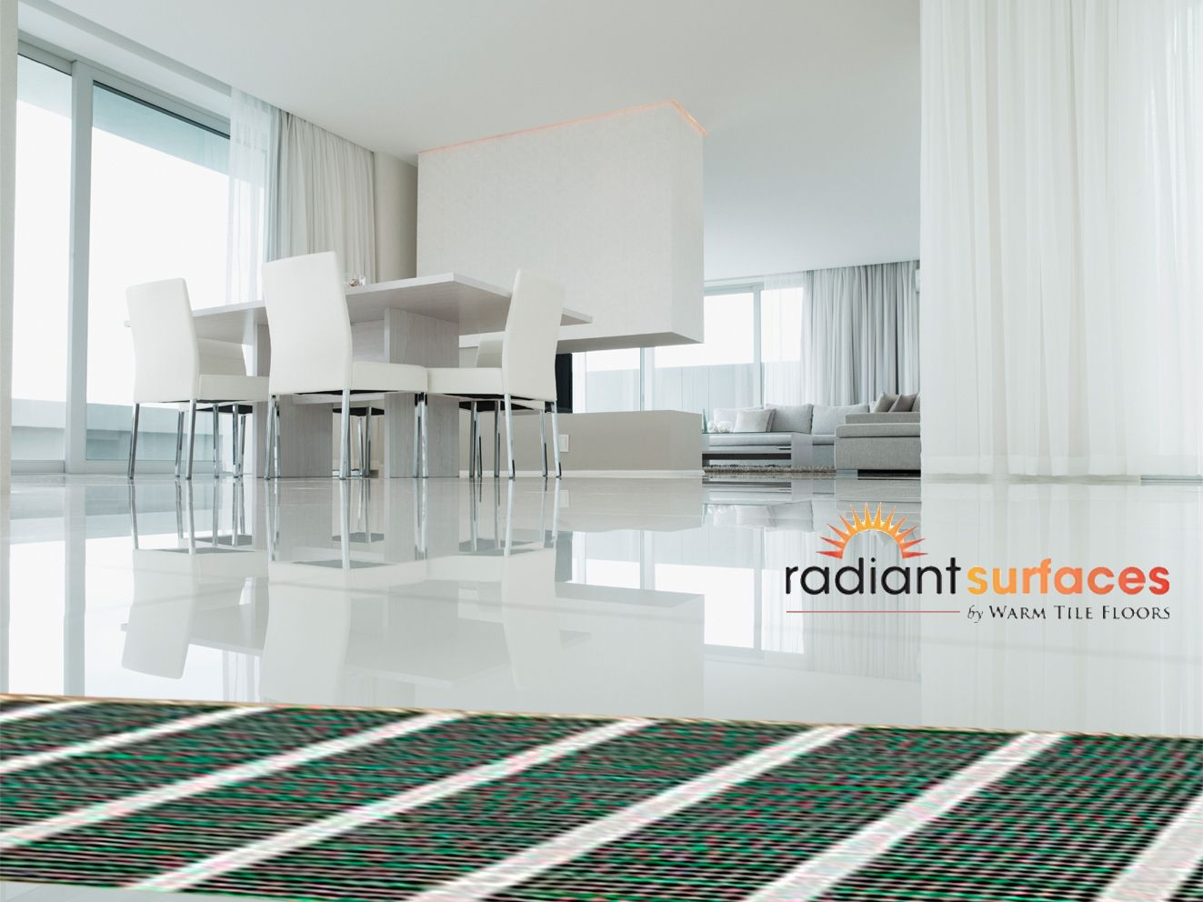 Radiant surfaces by warm tile floors provides warmth and comfort radiant surfaces by warm tile floors provides warmth and comfort for ceramic tiles warm dailygadgetfo Images