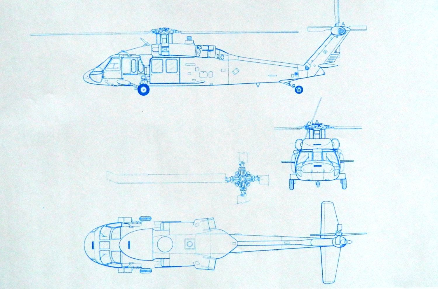 uh 60 blackhawk helicopter blueprint [ 1500 x 991 Pixel ]