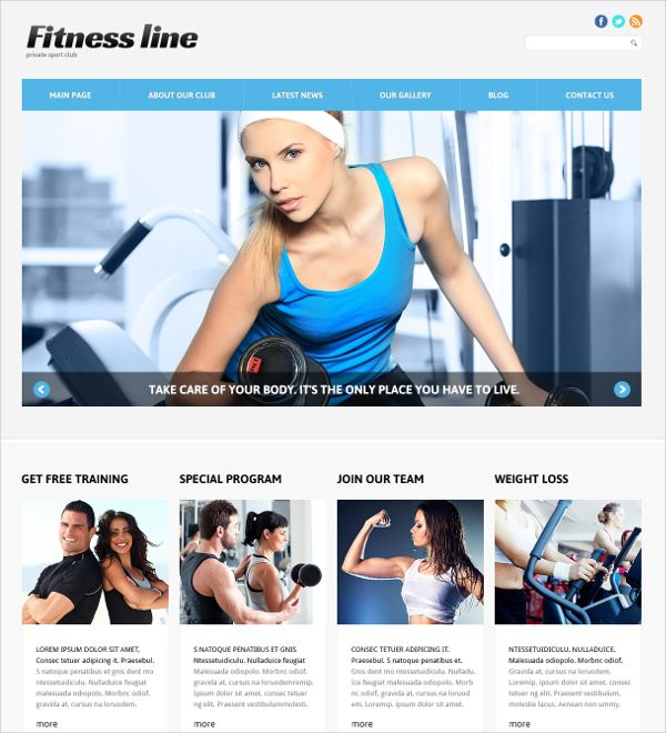Joomla is a platform to build user-friendly and mobile-ready - fitness templates free