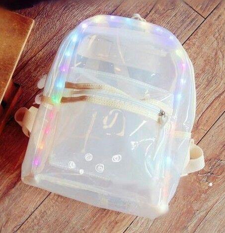 Led clear backpack cc r z ng bags backpacks - Bolsas para flash ...
