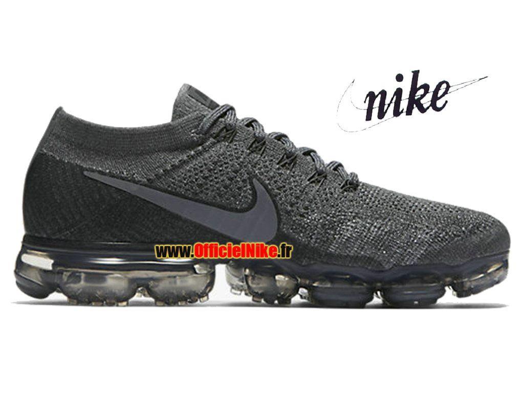 Officiel Nike Air VaporMax Flyknit GrisNoir 899473 005