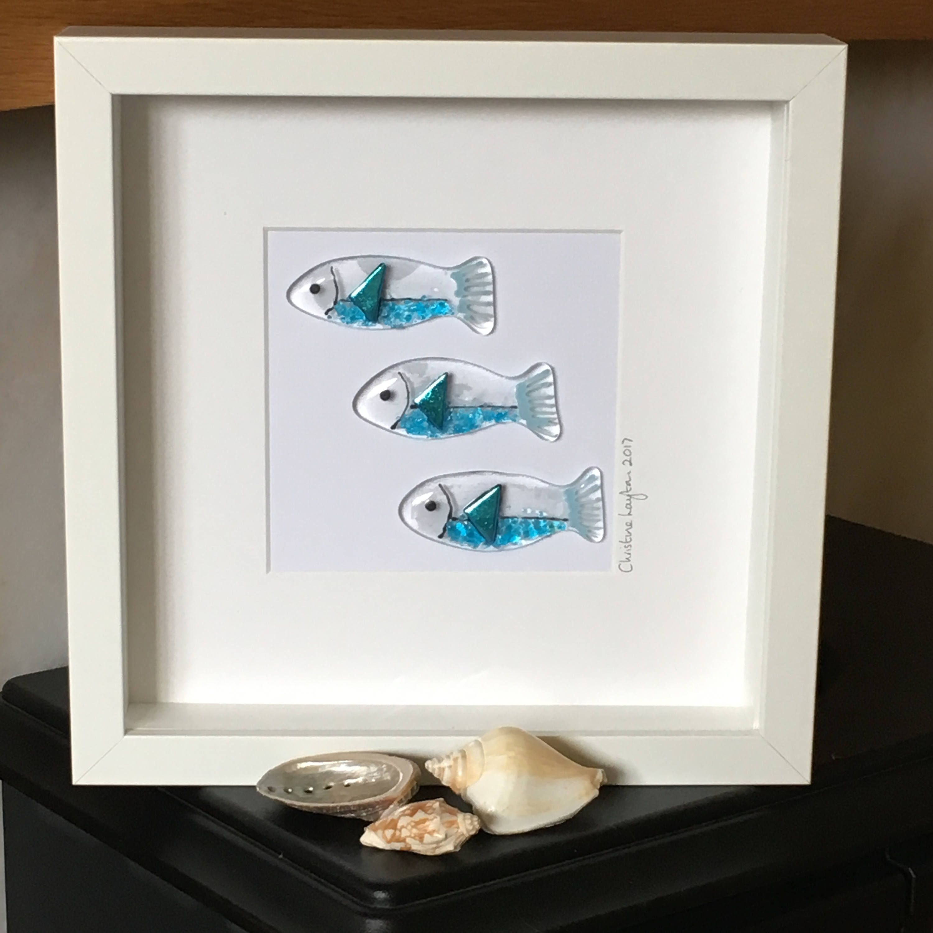 Glass Fishy Wall Hanging Fish Inspired Glass Art Seaside Home decor Wall Art Gift for her Gift for them Wedding gift & Glass Fishy Wall Hanging Fish Inspired Glass Art Seaside Home ...