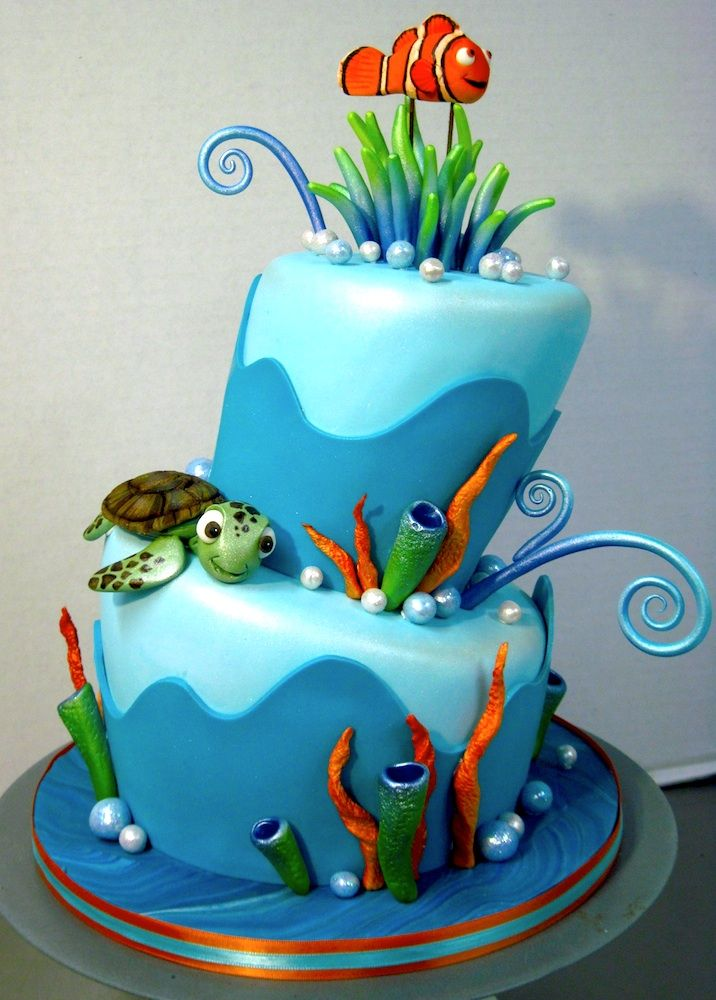 Finding Nemo Cake I Like The Fondant Sides On This One