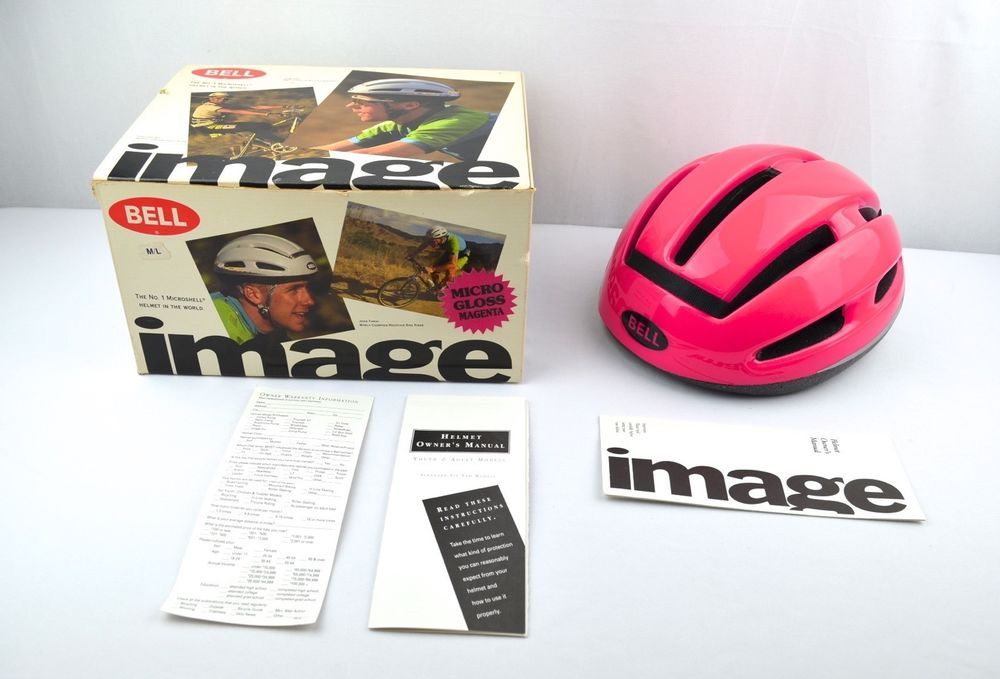 Vintage Bell Image Bicycle Helmet In Box Hot Pink Bike Cycling
