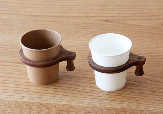 紙コップホルダー 木の器 テーブルウェア 木工作家の手仕事 家具工房 Unoka カップホルダー ホルダー ドリンクホルダー