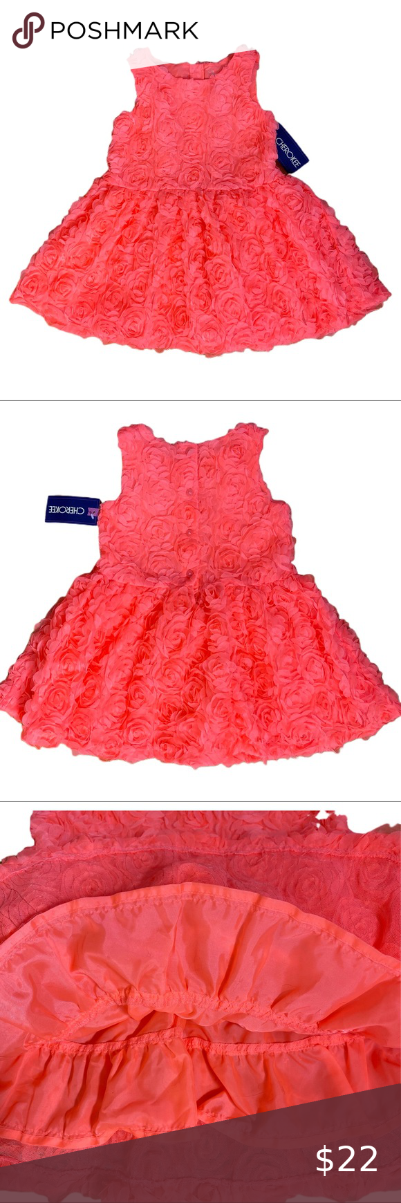 Girls Dress Formal Easter Party Dress Size 4t Girls Coral Dress Girls Dresses Party Dress [ 1740 x 580 Pixel ]