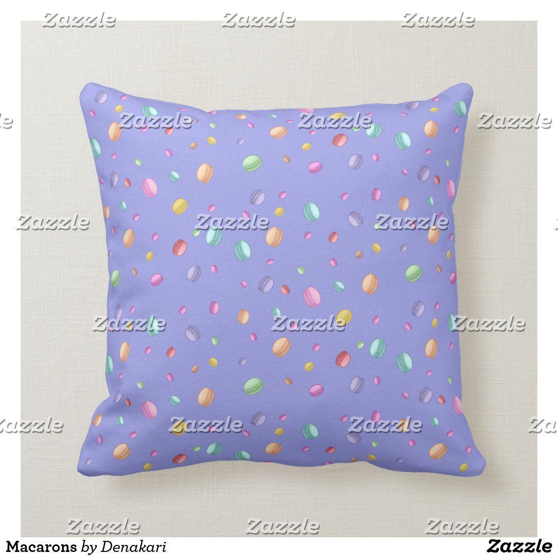 Macarons Throw Pillow Zazzle Com In 2021 Throw Pillows Pillows Custom Pillows