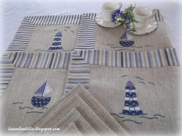 Marine inspiration. i can smell the sea on this table mats