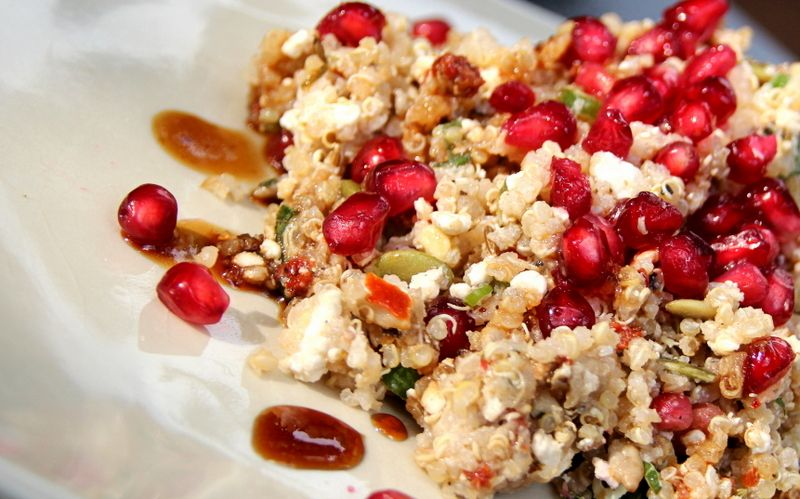 Summery Quinoa with Cottage Cheese, Seeds and Spices - a great veggie recipe