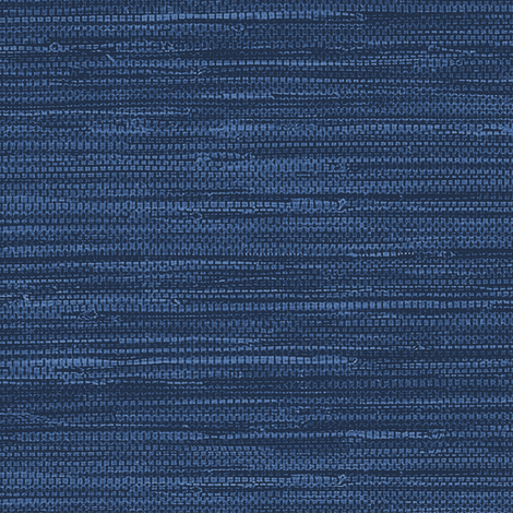 Wallpaper Grasscloth Fabric and Wallpaper in Navy Navy