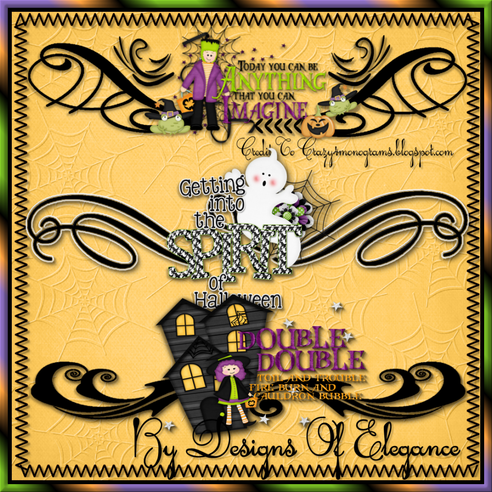 Halloween dividers new clipart sets by designs of elegance