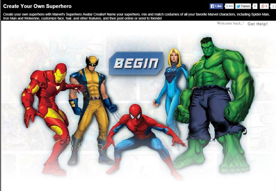 Create Your Own Superhero Create Your Own Superhero Super Hero Games Marvel
