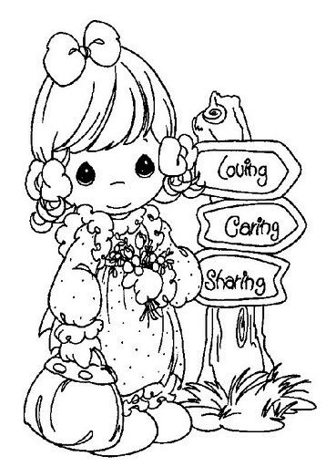 Find This Pin And More On Crafts Precious Moments Animals Coloring Pages