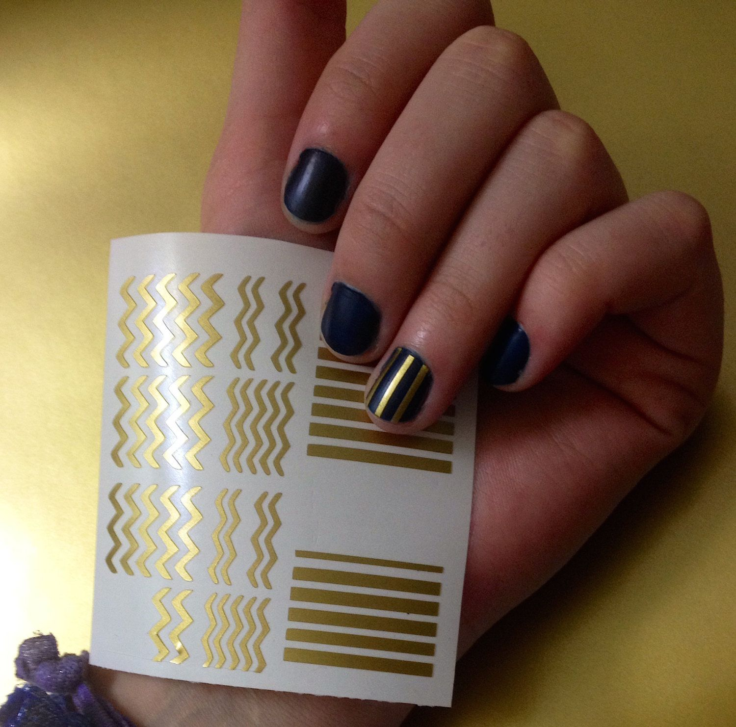 Mixed Size Stripes - Striped Vinyl Nail Decals - Various Quantities ...