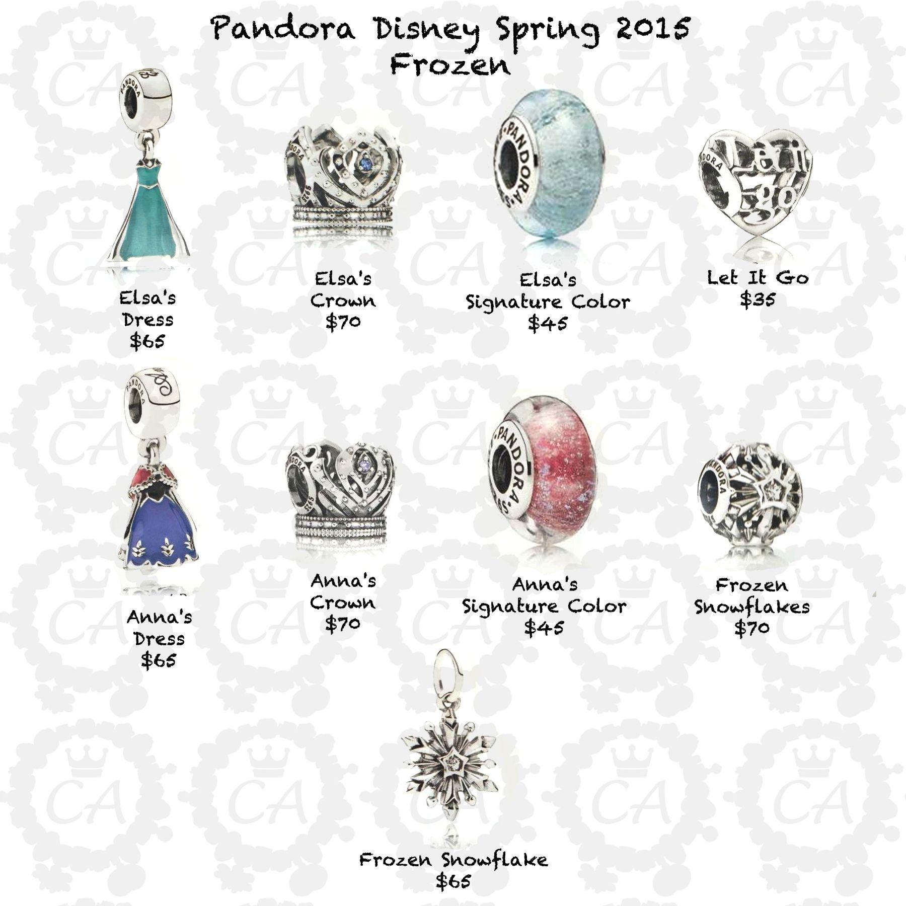Pandora Disney Spring 2015 Frozen Prices Charms Amp Beads