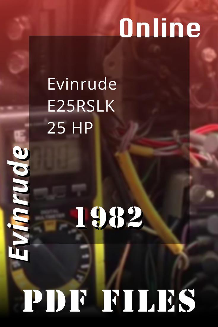 1982 E25rslk Evinrude 25hp Outboard Repair Manual P N 392790 Covers 1982 Johnson Evinrude 2 Thru V 6 Repair Manuals