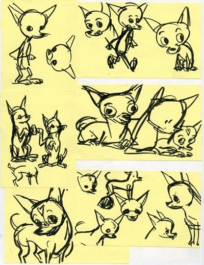 how to draw a cartoon chihuahua poses proportion puppy ears