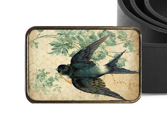 Vintage Swallow Swallow Belt Buckle - Bird Belt Buckle