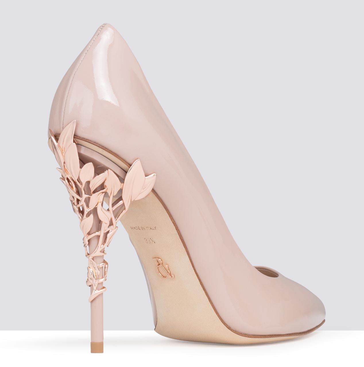 c8e0ae55686b ... pink patent with rose gold leaves