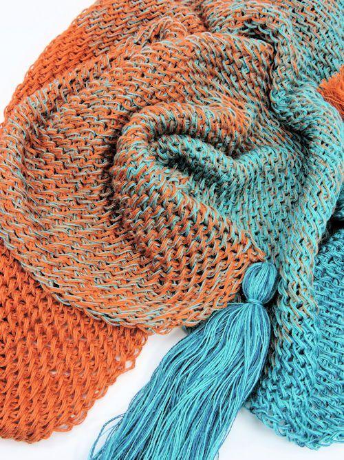 Mermaid Isle Scarf Free Tunisian Crochet Pattern Pinterest Free