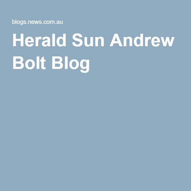 Herald Sun Andrew Bolt Blog