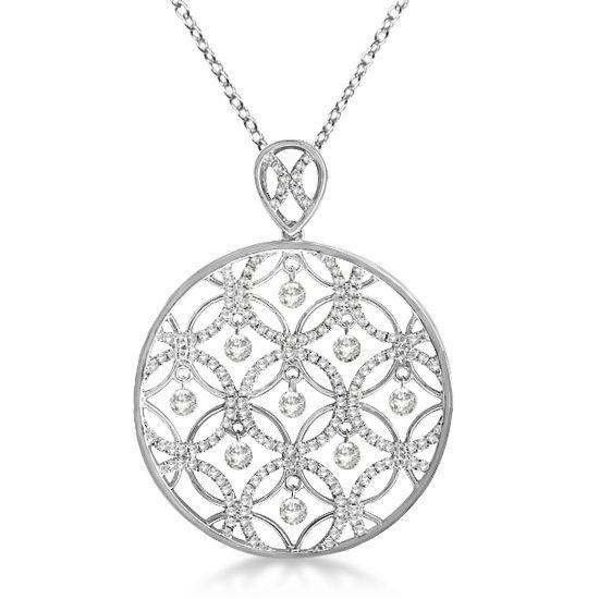 125ct diamond circle pendant necklace 14k white gold necklaces 125ct diamond circle pendant necklace 14k white gold aloadofball Choice Image