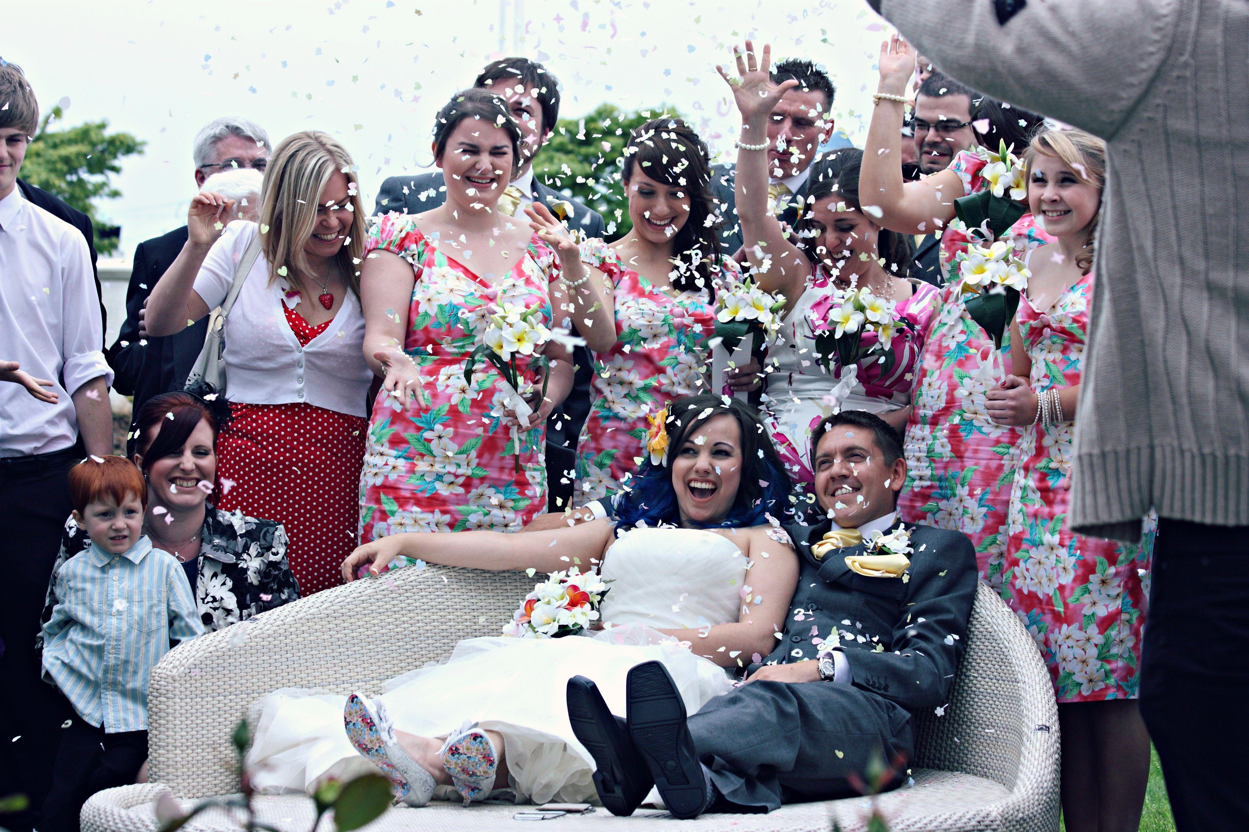 Confetti Bombing Zoo wedding, Full wedding, Diy wedding