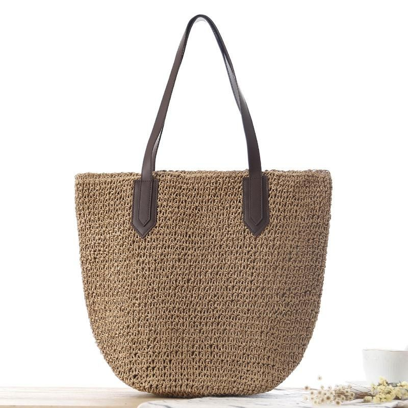 77db453c050c New Large Women's Shoulder Bag Weave Straw Beach Bags Women Summer ...