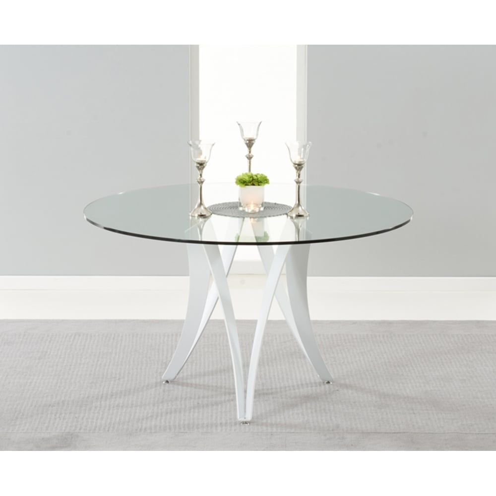 Mark Harris Bellevue Round 130cm Glass Dining Table Round Glass Table Glass Dinning Table Glass Round Dining Table