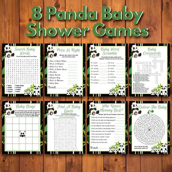 8 Panda Baby Shower Games With Bonuses  #babypandabears
