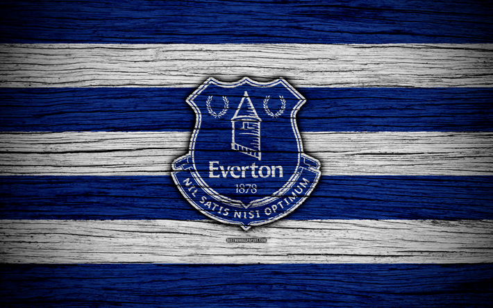 Download Wallpapers Everton, 4k, Premier League, Logo