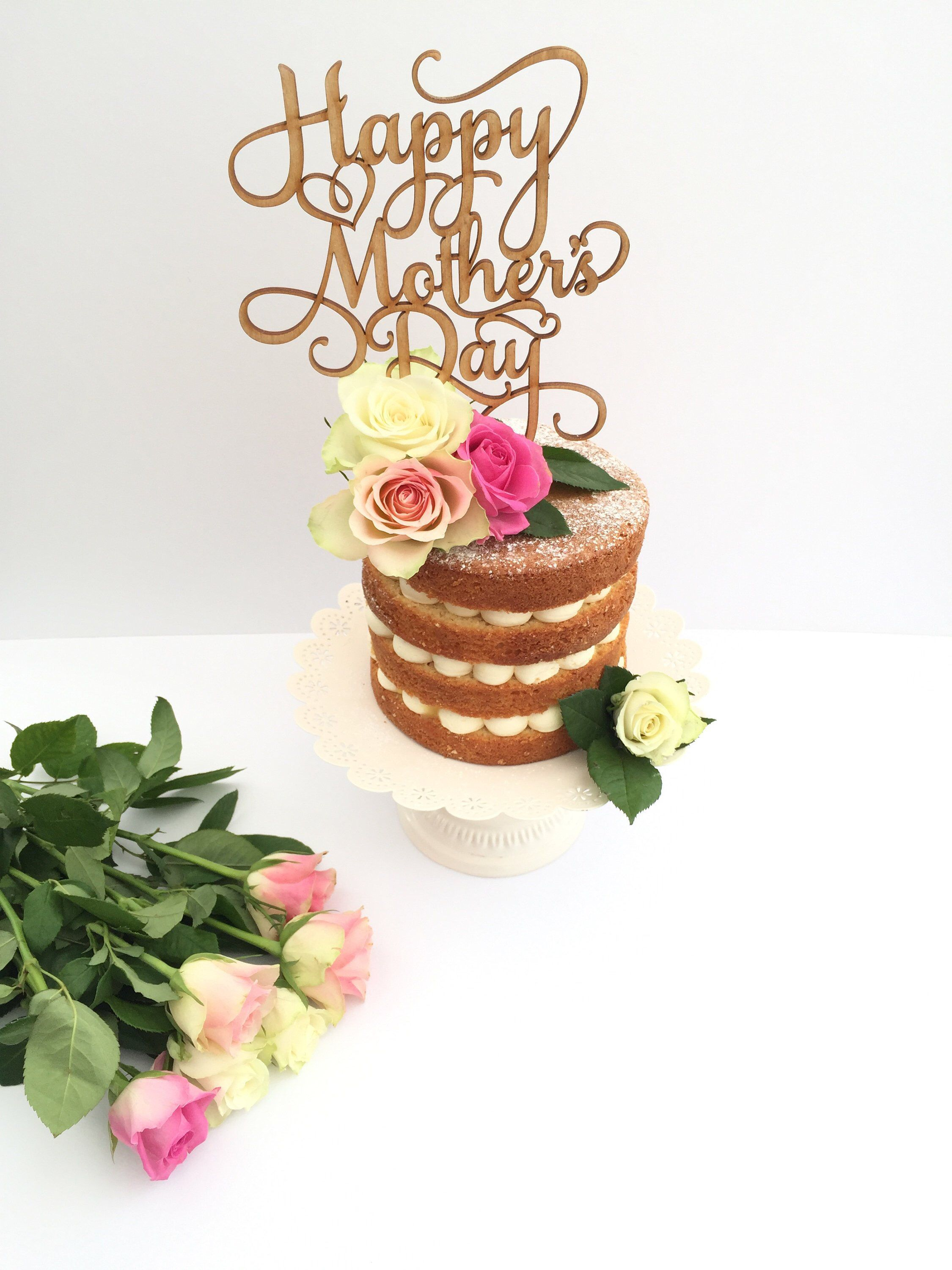 Excited To Share The Latest Addition To My Etsy Shop Happy Mothers Day Cake Topper Wooden Topper Mothers Day Cake Mothers Day Desserts Happy Mothers Day