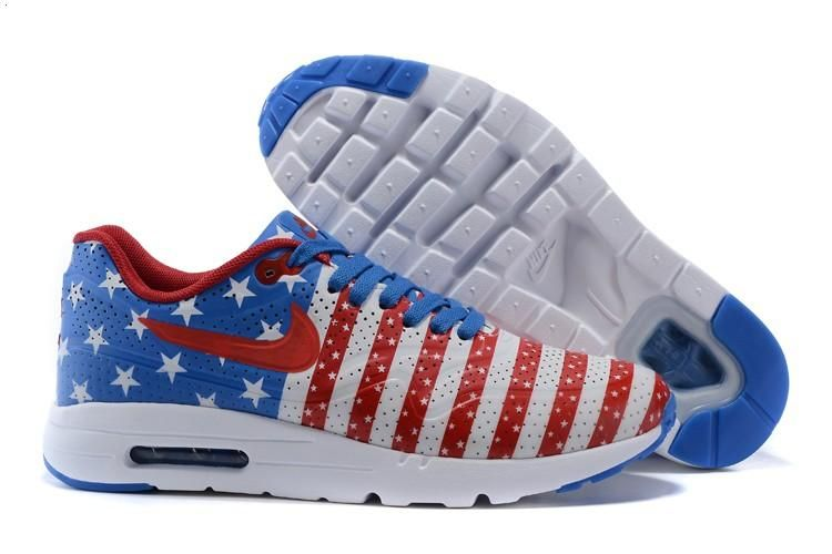 official photos 74a63 87815 Nike Air Max 1 Ultra Moire CH Camo Mens Shoes American Flag Blue Red