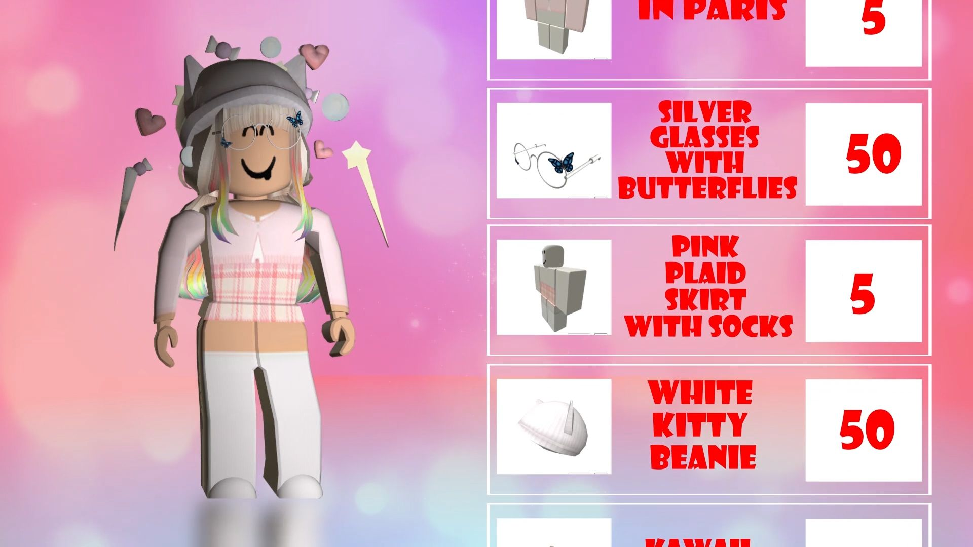 Roblox Outfit Ideas Roblox Pink Plaid Skirt Pink Plaid