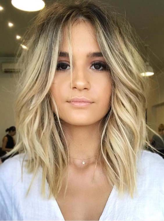 36 Gorgeous Undone Textured Lob Haircuts 2018 Kapsels Hair