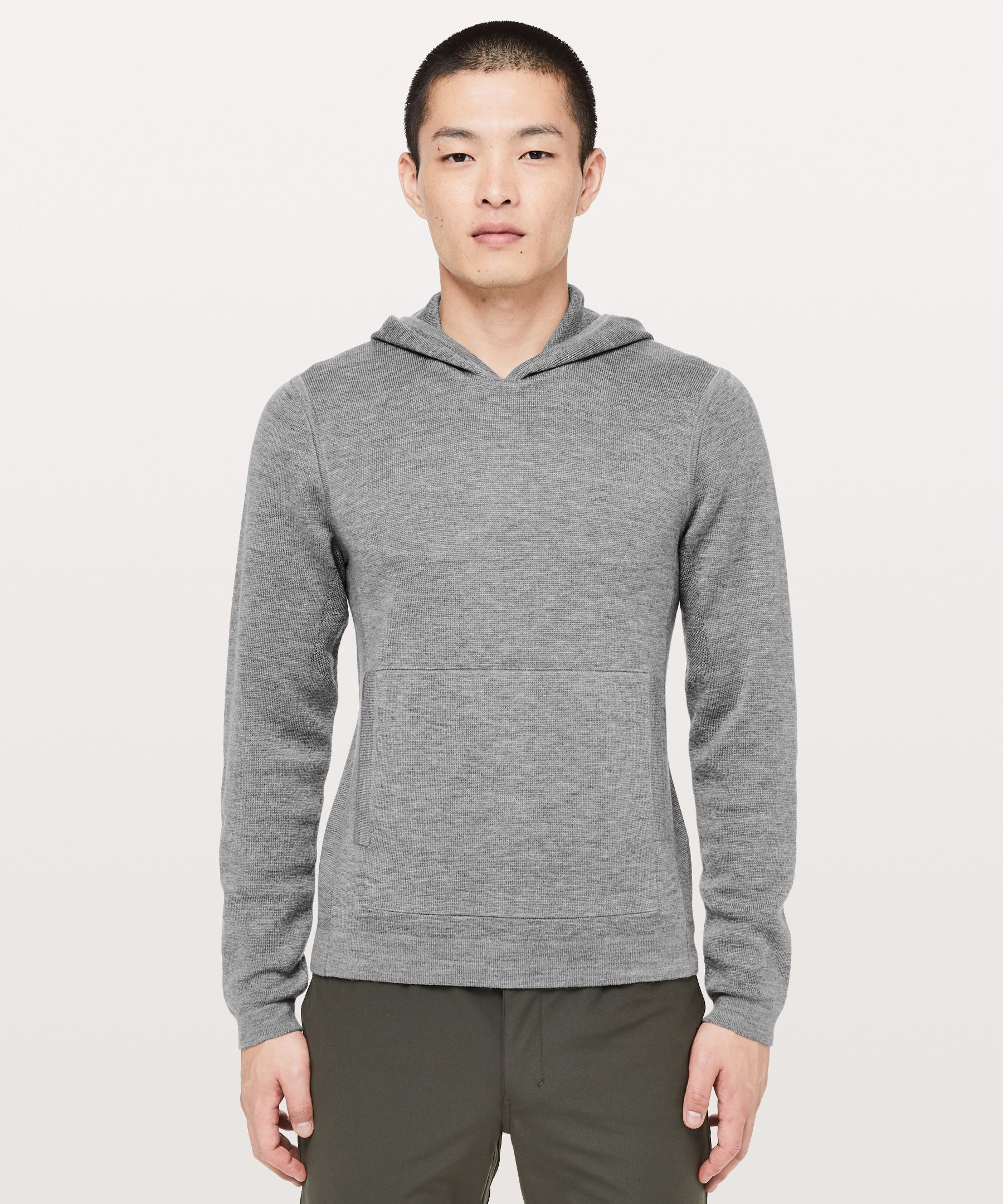 Lululemon Men S Alpine Air Pullover Heathered Core Medium Grey Size Xs Technical Clothing Athletic Apparel Pullover Men