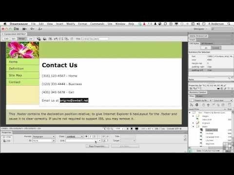 Dreamweaver Cs6 Tutorial Adding An Email Link Infiniteskills Dreamweaver Web Design Responsive Web Design