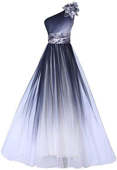 huini elegante abendkleider lang trägerlose one shoulder