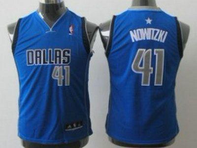 Dallas Mavericks 41 Dirk Nowitzki Light Blue Authentic Kids Jersey ... e533bae39