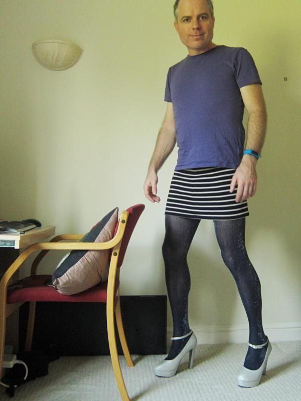 Men wearing pantyhose and heels