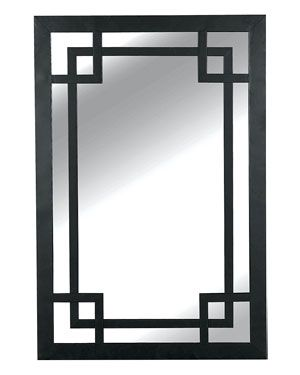 use black contact paper to re-create this design on plain mirror?