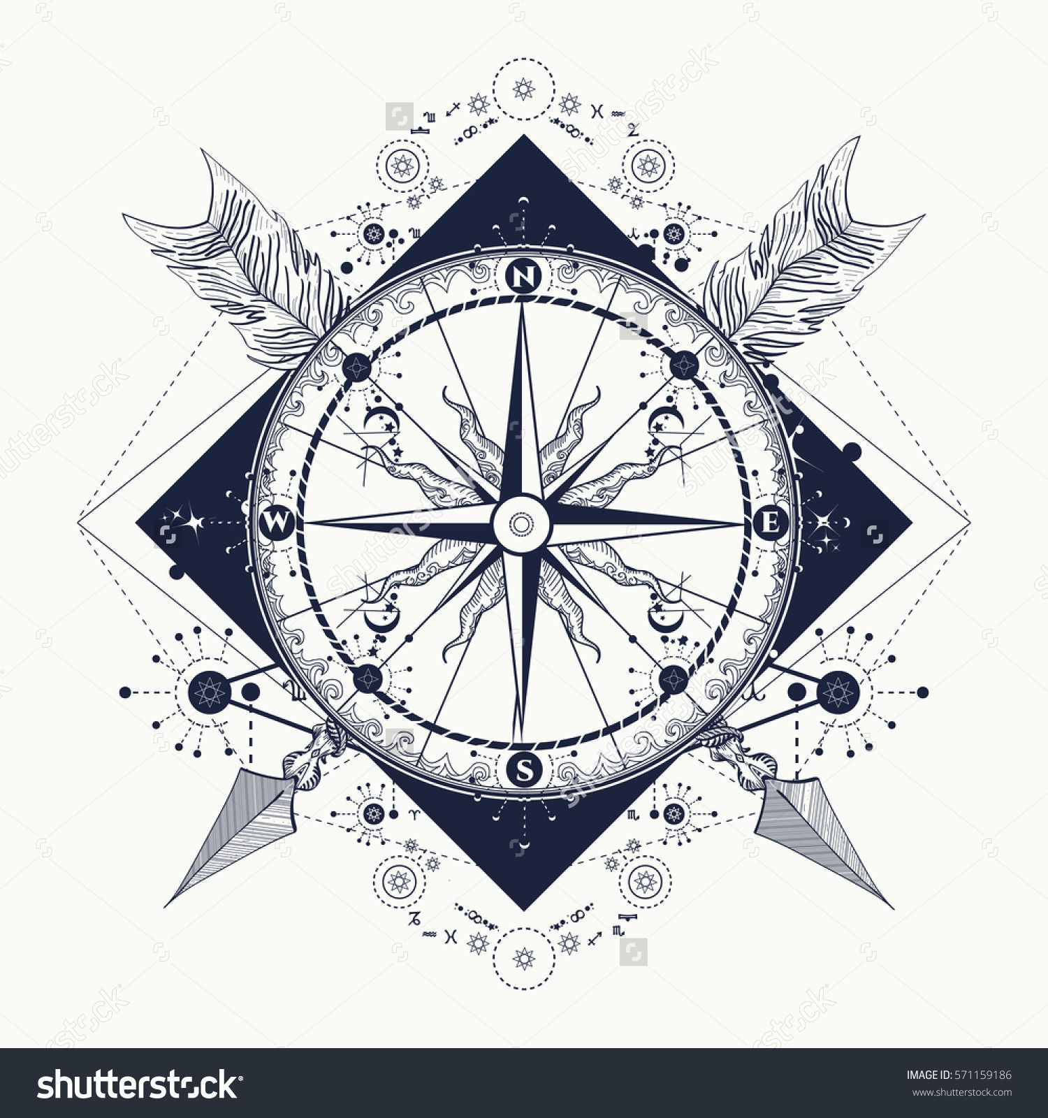 Image result for nautical compass art pinterest compass and compass tattoo and t shirt design compass and crossed arrows tattoo art symbol of tourism adventure travel rose compass t shirt design biocorpaavc Images