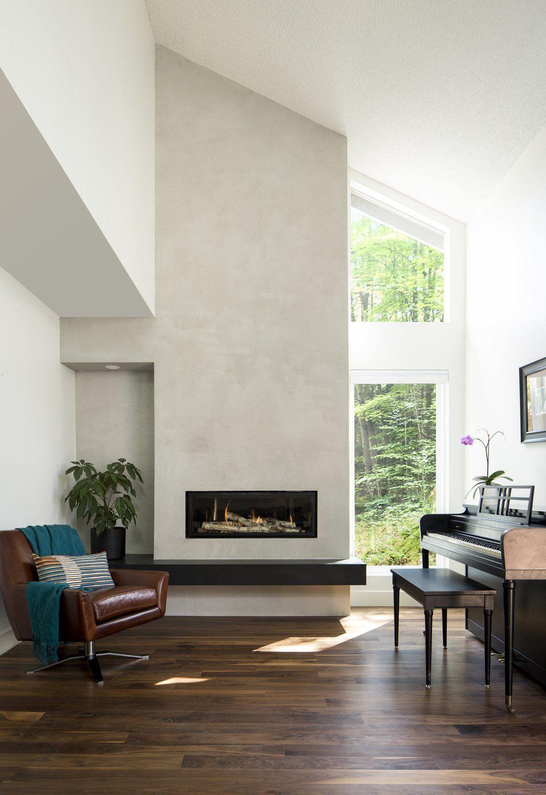 Maplewood Residence by Design Platform   Floating fireplace ...