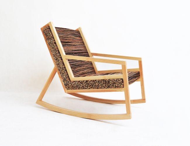 HALUZ (rocking Chair) By Tomas Vacek   Design Schaukelstuhl Aus Holz Und  Ästen