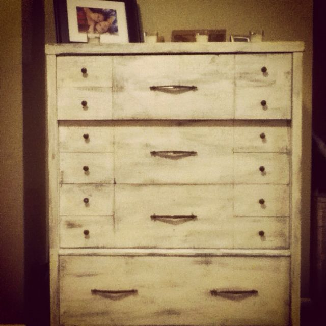 Dresser in crackle paint | Crackle painting, Rustic ...