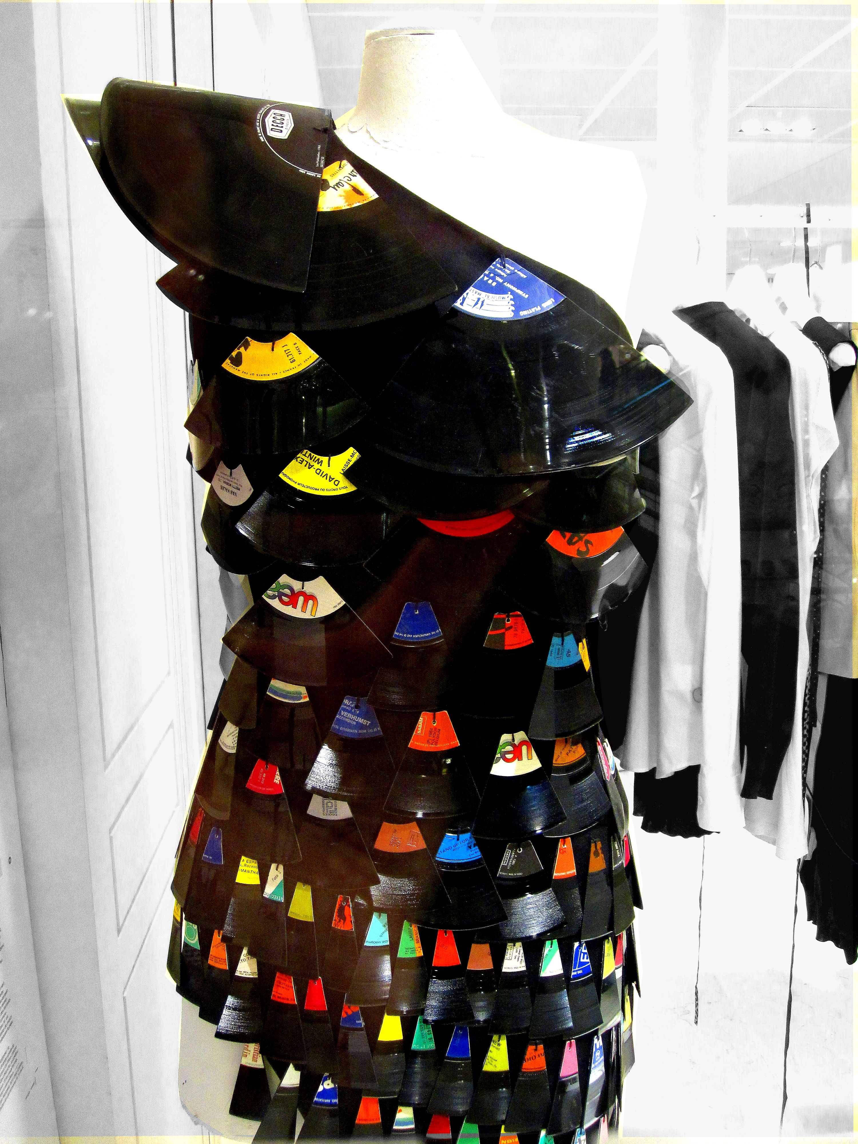 Vinyl Record Dress Recycle Clothes Diy Vinyl Fashion Art